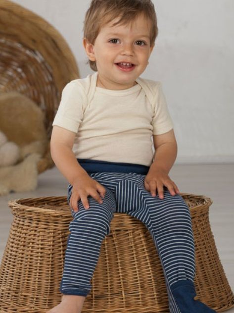 Cosilana Baby broek wol/zijde Cosilana, lang met omslag 71018