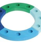 Grimms Verjaardagsring blauw-groen 12 gaten Grimms 02062