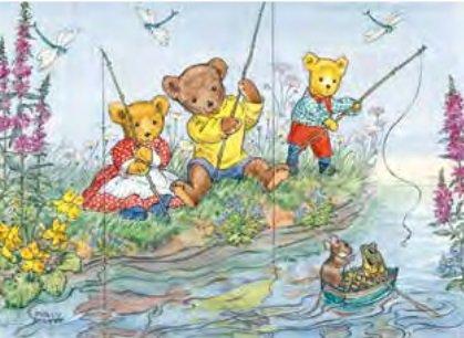 Poster Molly Brett, Teddies Fishing MAS 456