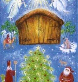 Adventkalender Marjan van Zeyl met 25 luikjes