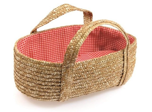 Reiswieg gevlochten rood/wit geruit ET520155