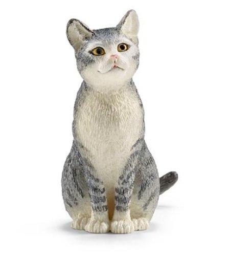 Kat zittend Schleich 13771