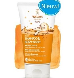 Weleda Kids 2in1 Shampoo & Body Wash Blije Sinaasappel