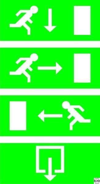 Elro noodverlichtingsbord met LED-verlichting, inclusief 4 ...