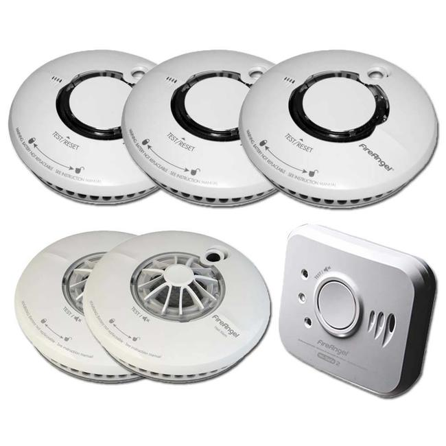 Fire Angel Fire Angel Wi-Safe draadloos koppelbaar beveiligingspakket XL - GRATIS magnetische sets!