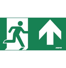 Zemper Diana Flat pictogram nooduitgang rechtdoor