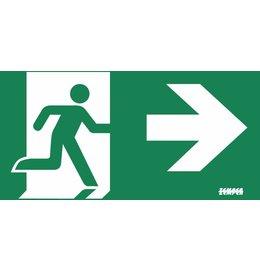 Zemper Diana Flat pictogram nooduitgang rechts