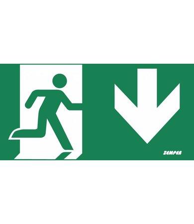 Zemper Zemper Diana Flat pictogram nooduitgang beneden