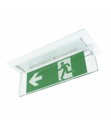 Zemper Zemper Diana Flat opbouwkit met plexiplaat voor plafondmontage