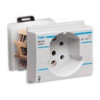 Hager Prise électrique EB gris HA T15