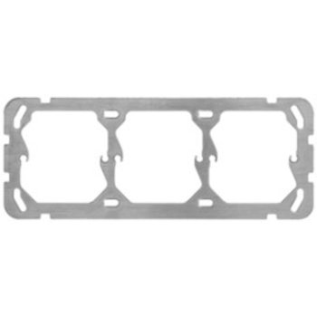 Hager la plaque de montage UP Hager 1x3 horizontal 197x77mm
