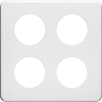 Feller Plaque de recouvrement 2 x 2/4 x 43 mm, blanc