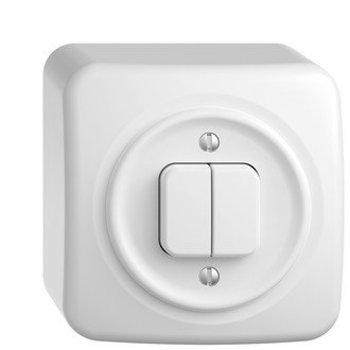 Feller AP interrupteur de pression StandardDue schéma 3 + 3, blanc
