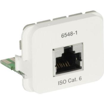 Adaptateur AMP ACO + 1 × RJ45S Cat 6 250MHz, 568A 8p Kl. E, RAL1013