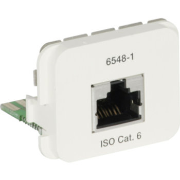 Adapter AMP ACO+ 1×RJ45s Kat.6 250MHz, 568A 8p Kl. E, RAL1013