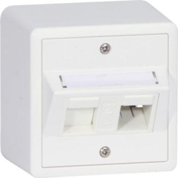 Hager AP-Montageset Edue POT-Lock 1/ 2 weiss