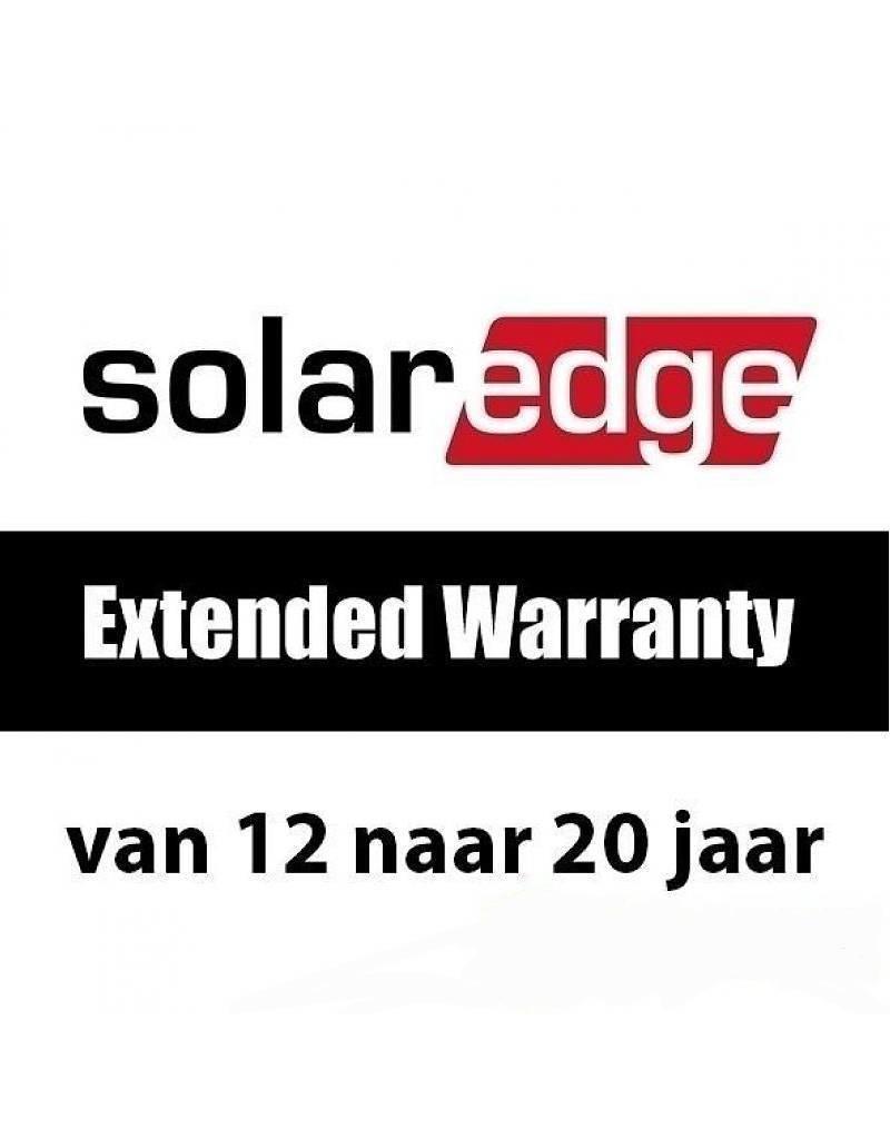 SolarEdge Garantie van 12 naar 20 jaar (driefase >15kW)