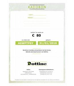 Kadobon ter waarde van 80 euro