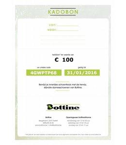 Kadobon ter waarde van 100 euro