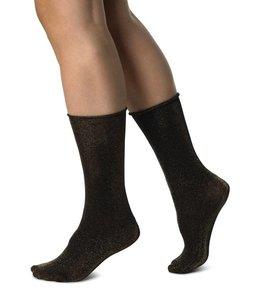 Swedish stockings Lisa black/gold