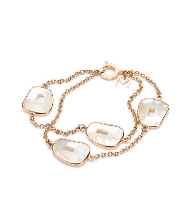 Mattioli Puzzle Bracelet 18 Carat Rose Gold Mother of Pearl with Diamond