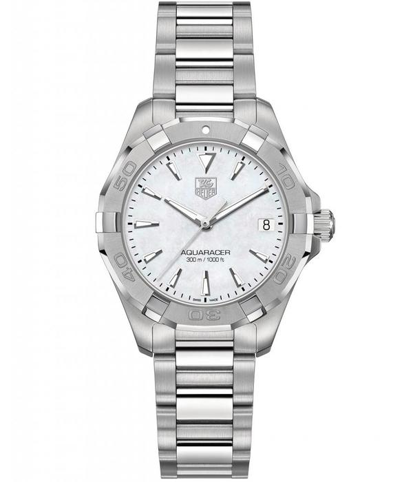 Tag Heuer Aquaracer Lady 32mm Horloge Staal / Parelmoer