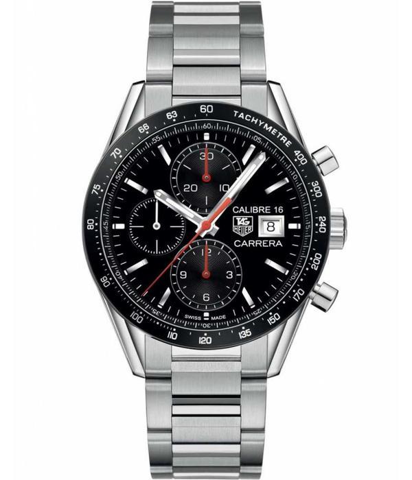 Tag Heuer Carrera Chrono Calibre 16 Horloge Staal / Zwart