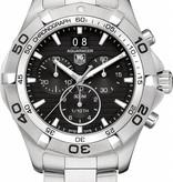 Tag Heuer Aquaracer Grande Date Chrono Horloge Staal / Zwart