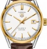 Tag Heuer Carrera Horloge Staal / Goud / Zilver / Crocoleder