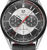 Tag Heuer Carrera Calibre 1887 Horloge Staal / Grijs / Crocoleder