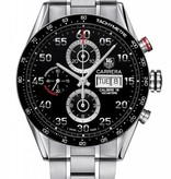 Tag Heuer Carrera Day Date Chrono Horloge Staal / Zwart