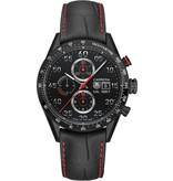 Tag Heuer Carrera Calibre 1887 Chronograph Horloge Titanium / Zwart / Alligatorleder