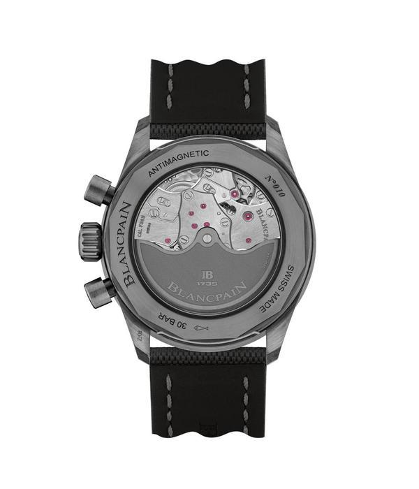 Blancpain Fifty Fathoms Bathyscaphe Horloge Staal Zwart / Nylon
