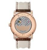 Blancpain Perp Calendar 42mm Horloge Roségoud Wit / Alligatorleder