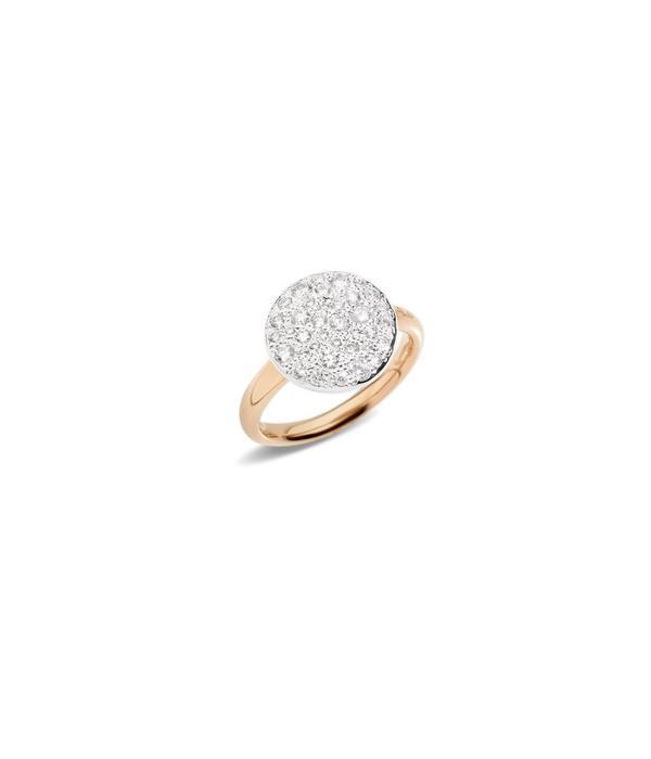 Pomellato Sabbia Ring diamant Top Wesselton 18K Roségoud