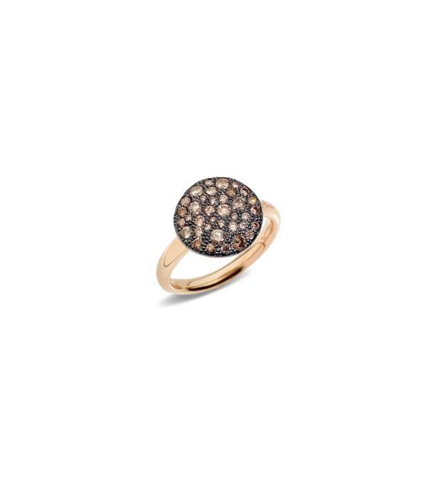 Pomellato Sabbia Ring Brown Diamond 18 Carat Rose Gold