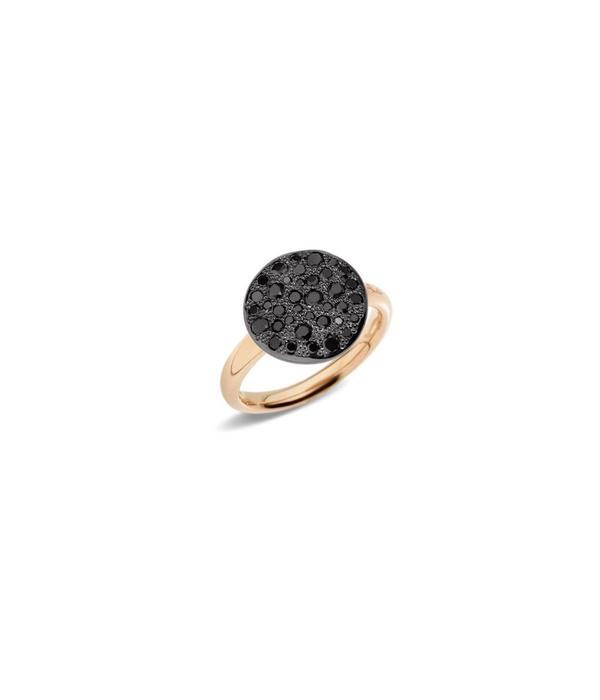 Pomellato Sabbia Ring Zwart Diamant 18K Roségoud