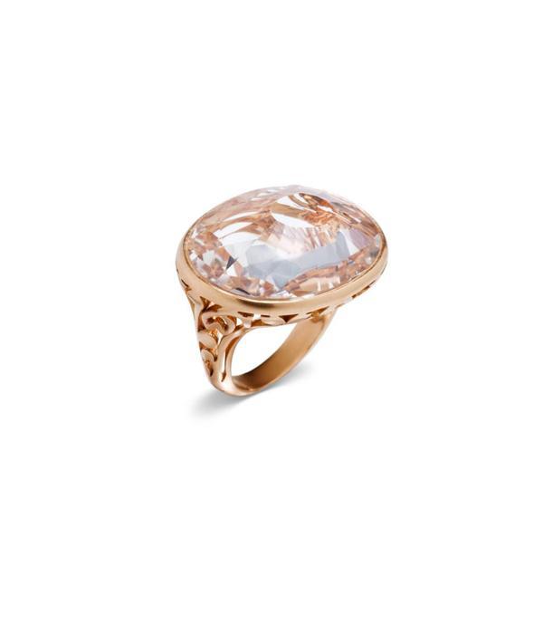 Pomellato Arabesque Ring goud 18K Roségoud Arabesque mat bergkristal