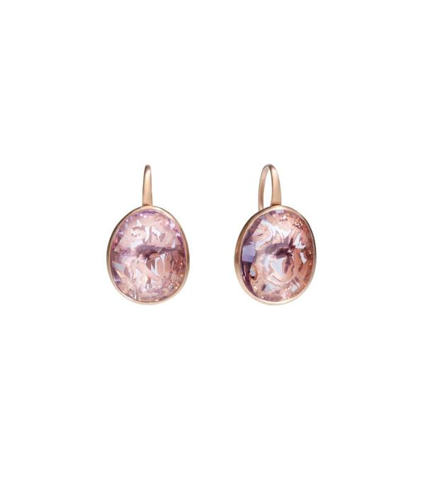 Pomellato Arabesque Earring Drops 18 Carat Rose Gold Arabesque amethyst