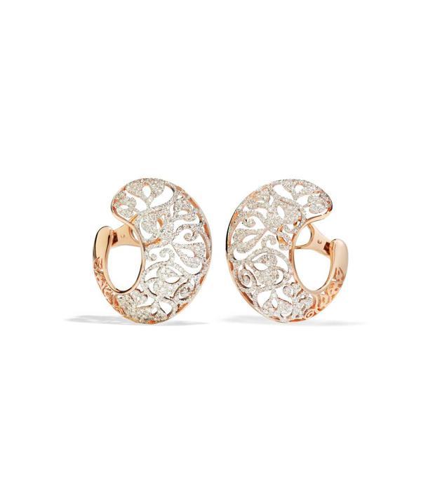 Pomellato Arabesque Earring Drops 18 Carat Rose Gold / Diamond