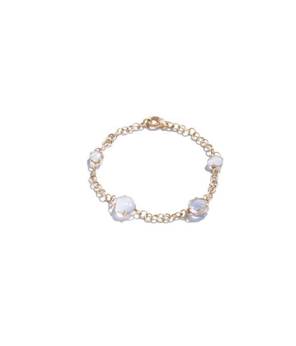 Pomellato Capri Armband 18K Roségoud mat bergkristal chalcedoon