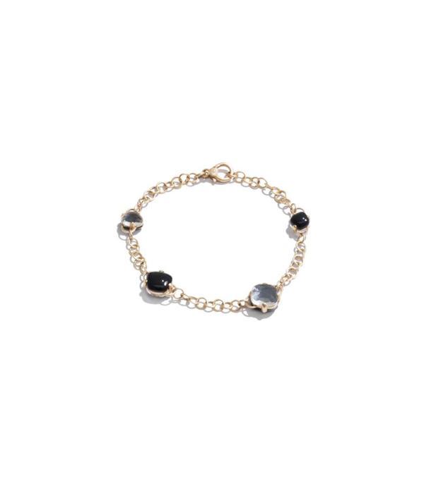 Pomellato Capri Bracelet 18 Carat Rose Gold Onyx Rhinestone