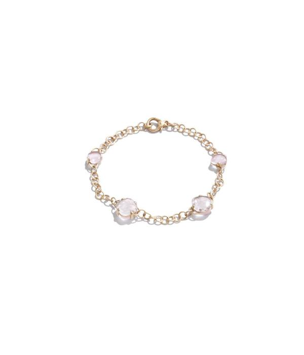 Pomellato Capri Armband 18K Roségoud mat bergkristal rozenkwarts