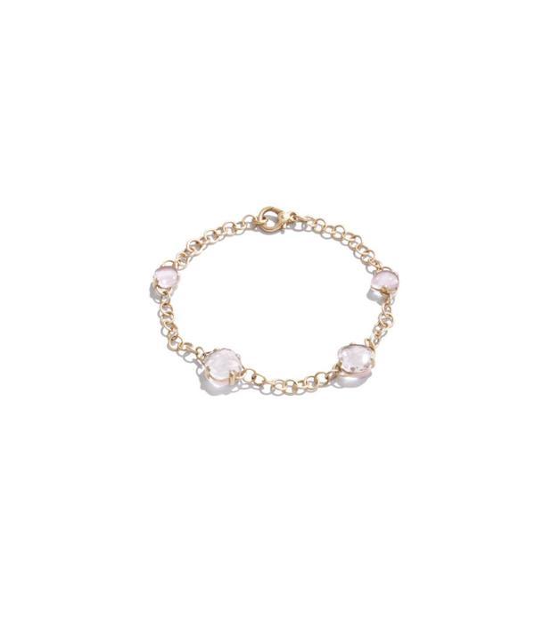 Pomellato Capri Bracelet 18 Carat Rose Gold mat Rhinestone Pink Quartz
