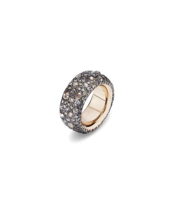 Pomellato Tango Ring Bruin Diamant 18K Roségoud