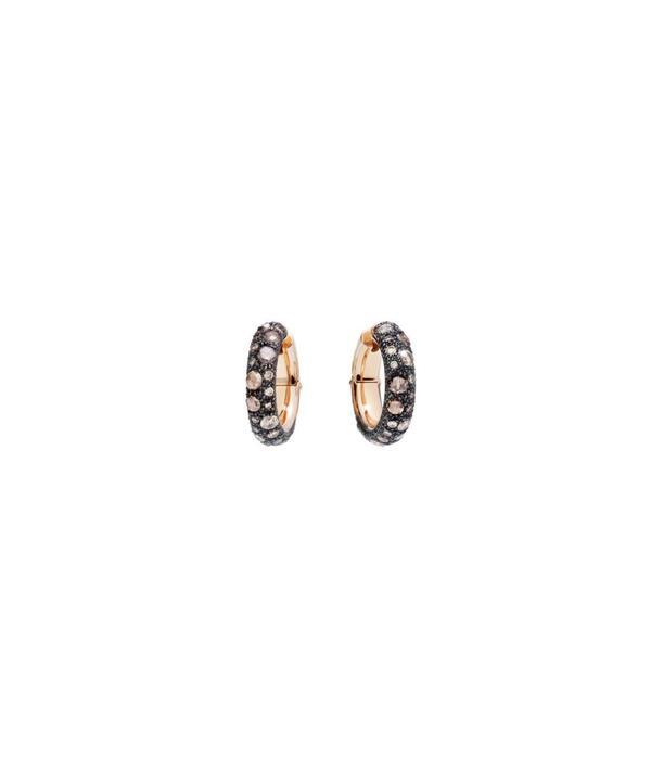 Pomellato Tango earrings  Carat Rose Gold with Brown Diamond
