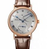 Breguet Classique Réserve de marche Horloge Roségoud Zilver / Crocoleder