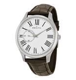Zenith Heritage Ultra Thin Horloge Staal / Wit / Crocoleder