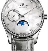 Zenith Heritage Ultra Thin Lady Moonphase Horloge Staal / Parelmoer / Alligatorleder