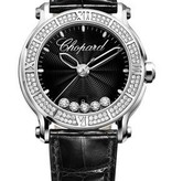 Chopard Happy Sport 42mm Horloge Staal / Diamanten / Alligatorleder